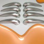 Türgriffe mit Metalleffektlack